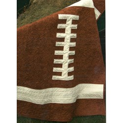 Rookie Quarterback Football Quilt Kit