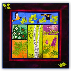 From the Ground Up Wool Applique Block of the Month or All at OnceStarts February