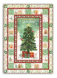 More Back in Stock!<br>  Frosted Holiday Wall Hanging Quilt with Optional Light Pack