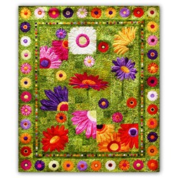 Full Bloom Batik Quilt Kit BOM or All at Once - Start Anytime!