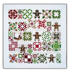 Last One!  Gingerbread Joy<br> Block of the Month<br> or All at Once  Quilt Kit <br>Join Anytime