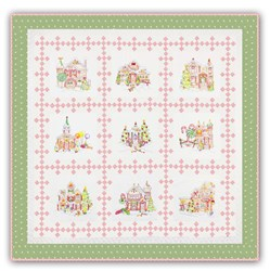 "Gingerbread Square ""Victorian"" Colorway - Green Snowflake  Border  Quilt Kit!"