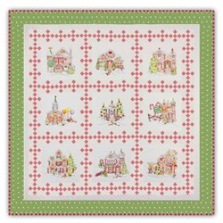 "Gingerbread Square ""Victorian"" Colorway Quilt Kit!"