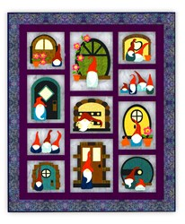 Gno Buddies -- Batik BOM or All at Once Quilt - Start Anytime!