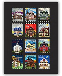 Holiday Houses - Exclusive Quilt by Homespun Hearth - Block of the Month or All at Once