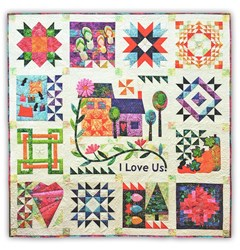 """I Love Us Year Round"" Block of the Month or All at Once - Start Anytime!-- Customizable, too!"