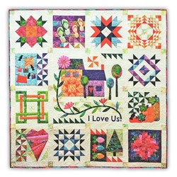 """I Love Us Year Round"" Block of the Month or All at Once - Starts July -- Customizable, too!"
