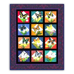 In Flight Bright BATIK Block of the Month or All at Once KitStart Anytime!