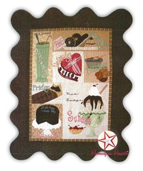 Let There be Chocolate Wool Applique Block of the Month or All at Once - Begins February