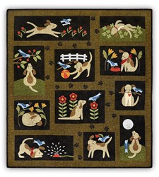 Lucky Dog Block of the Month or All at Once - Traditional Applique
