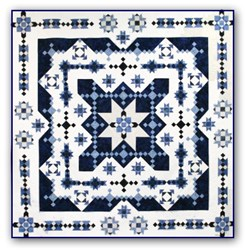 Midwinter Blues Batik King Size is Back!  <br> Block of the Month or All at Once<br>Starts October