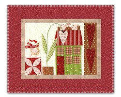 <I>LAST ONE!</I>Mistletoe Lane Complete Wall Hanging/Table Mat Kit - Orphan Block #4