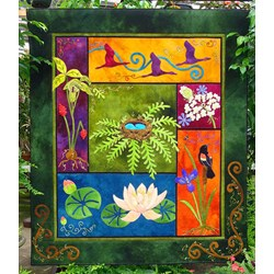 The Nature of Things - Wool Applique Quilt Kit