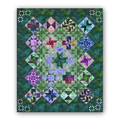 "Night & Day Exclusive ""Tropical Jungle"" Block of the Month or All at Once - Starts October!"