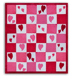 Minky Peek-a-Boo Bubble Hearts Quilt Pattern Download