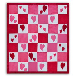 Minky Peek-a-Boo Bubble Hearts Quilt Kit