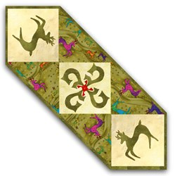 Reindeer Romp Table Runner Kit -Green