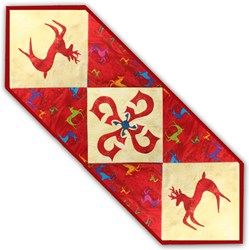 Reindeer Romp Table Runner Kit - Red