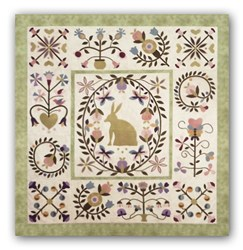 Rhapsody Cotton Applique<br> Block of the Month or All at Once <br> Starts August!