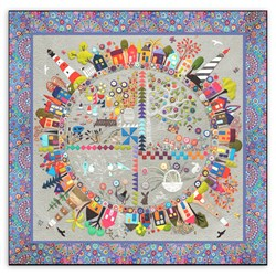 New! Round the Garden Customized Quilt Kit!  Linen & Wool Felt.  Free US Shipping!