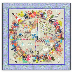 <i>New!</i> Round the Garden Customized Quilt Kit!  Silk Matka & 100% Hand Dyed Wool.  <br><i>Free US Shipping!</i>