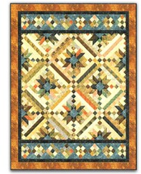 Smokey River Twin Size Quilt Pattern