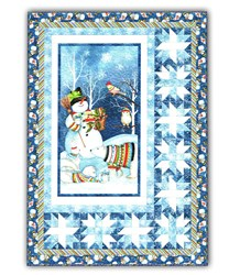 Snowy Friends Christmas Lap Quilt Kit - Wilmington Fabrics - by Nancy Mink