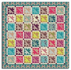 From the Quilternator - April Fools Fun!<br>  Star Kissed Garden Lap & Queen Size Quilt Pattern Download