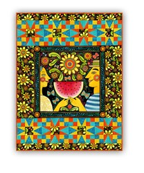 Summer Wall Hanging Quilt Kit & Pillow- The Four Seasons, by In the Beginning
