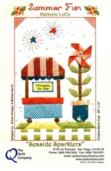 "Orphan Block #5 - ""Seaside Sparklers"" Summer Fun Quilt"