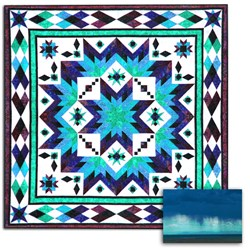 Taos (Monsoon Aquas) Block of the Month OR All at Once Queen/King Size Quilt