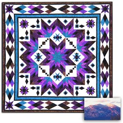 Taos (Frosty Winter) Block of the Month OR All at Once Queen/King Size Quilt