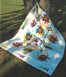 New!  Batik Texas Star Quilt Kit - LAP SIZE