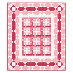 Time in a Bottle Quilt Kit - Pinks and Rds