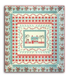 Tour des Jardin Quilt Kit - Blue Version