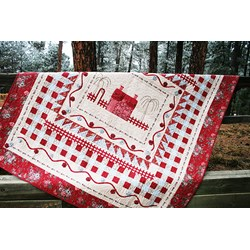 Tour des Jardin Quilt Kit - Red Version
