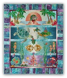 New!  Tropical Noel Quilt Kit - Pre-fused & Laser Cut!  By McKenna Ryan.  Free US Shipping
