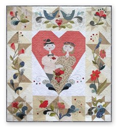 "Scandinavian ""True Love & Happiness"" Queen Size Quilt BOM Pattern Set by Northern Quilts"