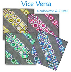 Vice Versa -  Block of the Month or All at Once - 4 Colors &  2 Sizes! <br>Start Anytime!