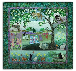 Wind in the Whiskers Batik Quilt Kit by McKenna Ryan