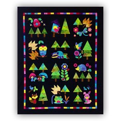 New!  Adorable Woodland Critters BATIK Applique Block of the Month or All at Once!  Starts June!