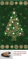 Green Lite-Up Christmas Tree Panel Kit