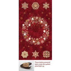 Red Lite-Up Christmas Wreath Panel Kit
