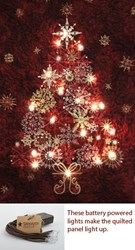 Red Lite-Up Christmas Tree Panel Kit