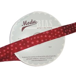 Vintage Find!  Moda Bias Binding -Marble Star - Turkey Red