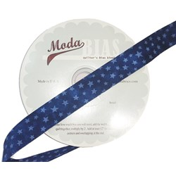 Vintage Find!  Moda Bias Binding -Marble Star - Windsor Blue