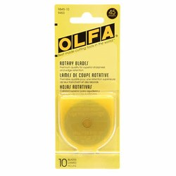 Olfa - 45mm Rotary Blades - Bulk Count 10  Replacement Blade