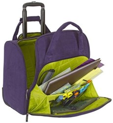 Regal Suede All Purpose Rolling Tote
