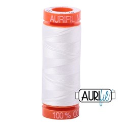 Mako 50 - 220 yards - Aurifil #2021 White
