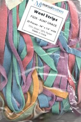 <i>Vintage Find!   </i><br>Wool Strips by Marcus Brothers - Aunt Grace